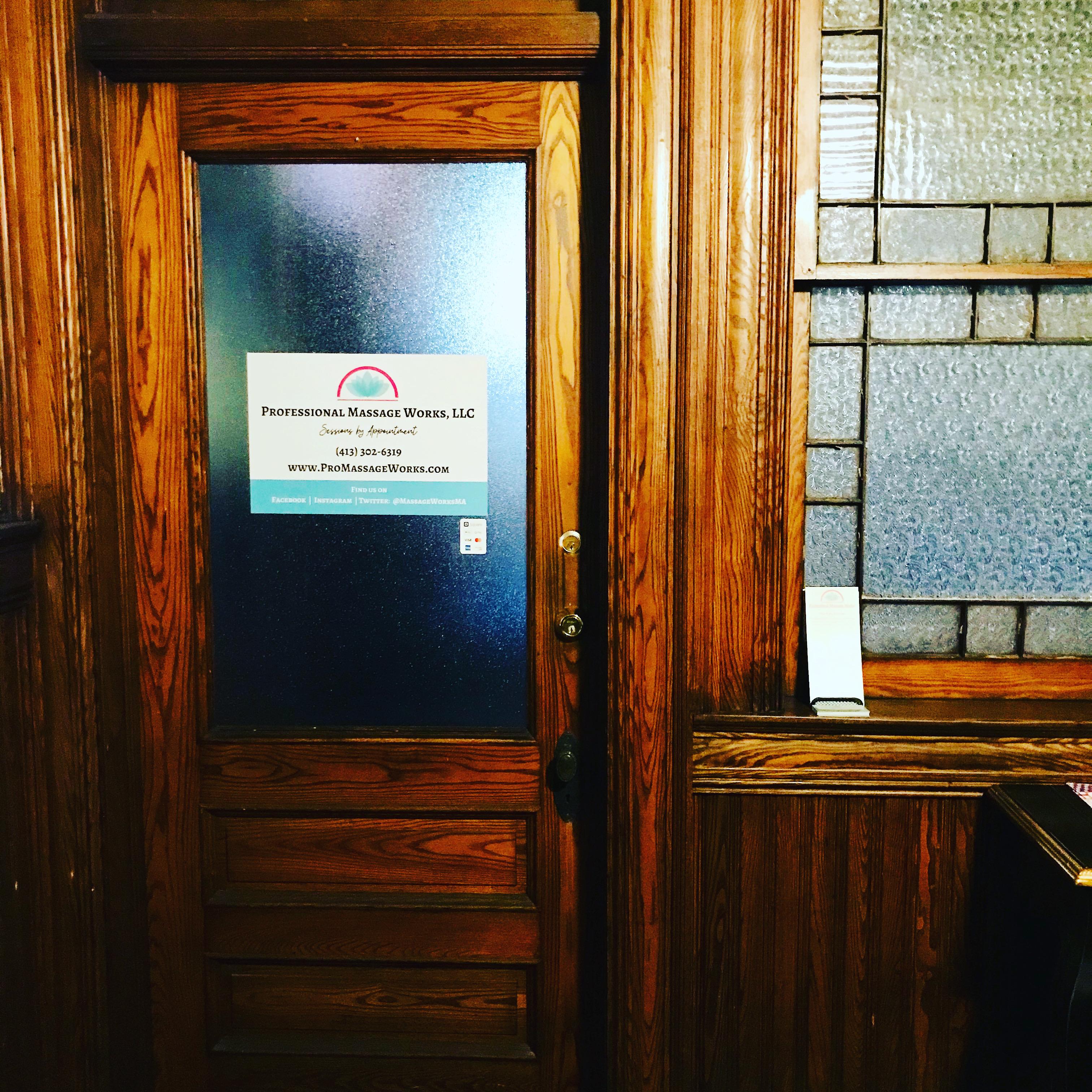 Professional Massage Works, Office, Door, Entry Door, Main Office