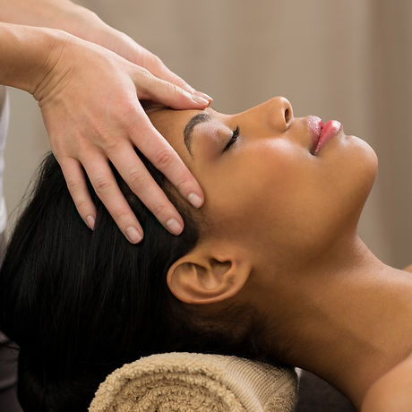 Relaxation, massage, scalp massage, gentle massage, craniosacral