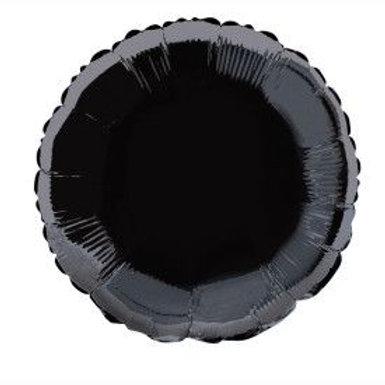 """Balloon Foil 18"""" Round Black"""