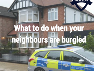 What to do when your neighbours are burgled