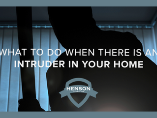 What to do when there is an intruder in your home