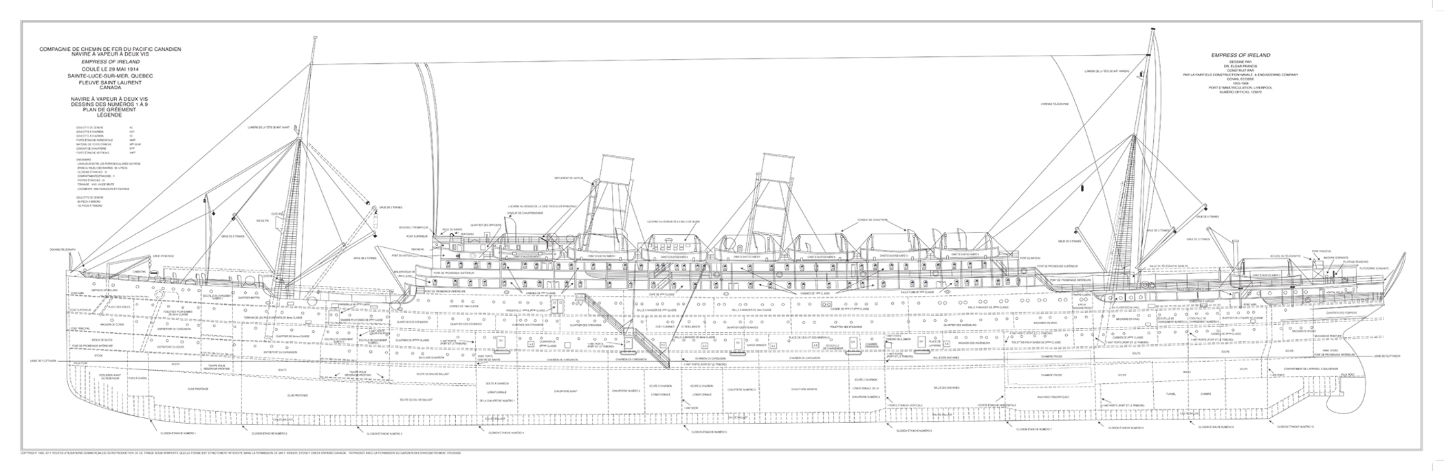French set of Deck plans