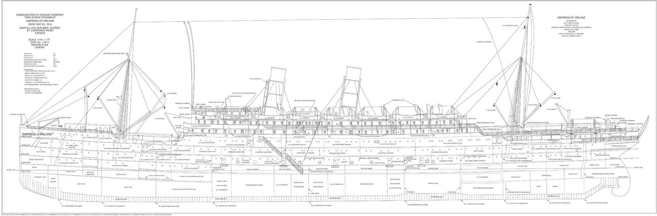 English set of Deck Plans