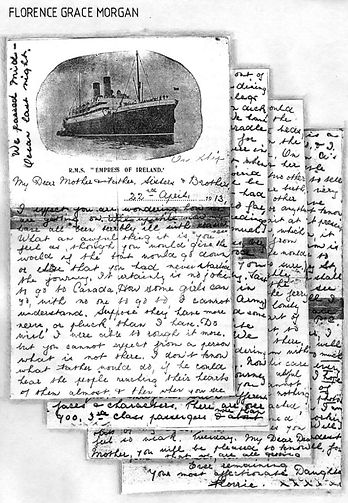 Florence G. Morgan letter from April 22, 1913 on Empress of Ireland stationary