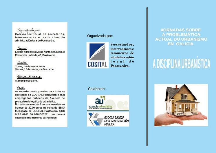 Curso disciplina urbanística organizado por COSITAL Pontevedra, EGAP y Axencia de protección de la legalidade urbanística en el que interviene el abogado especialista Diego Gómez