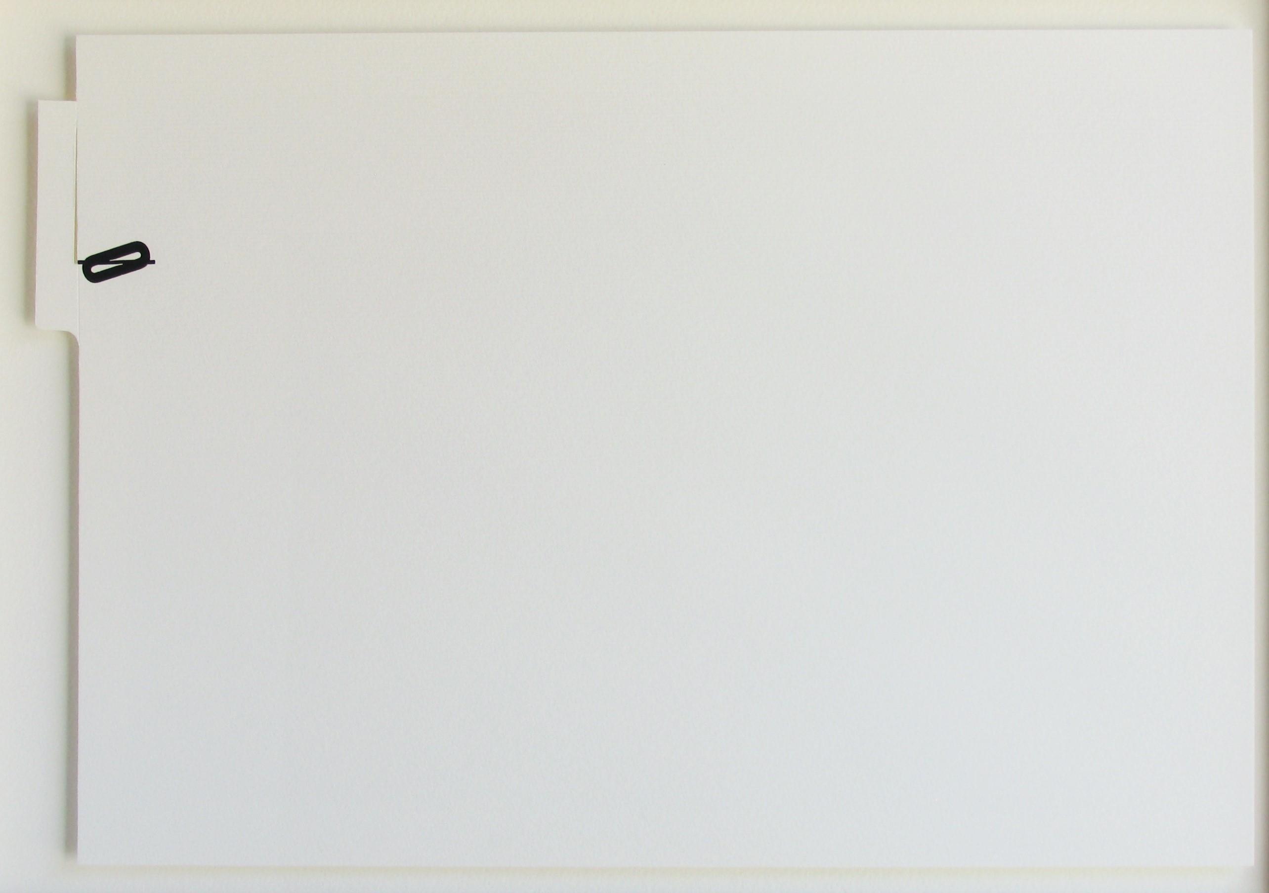 RECUOS 0, letraset e recorte sobre papel, 29,6 X 42 cm, 2011