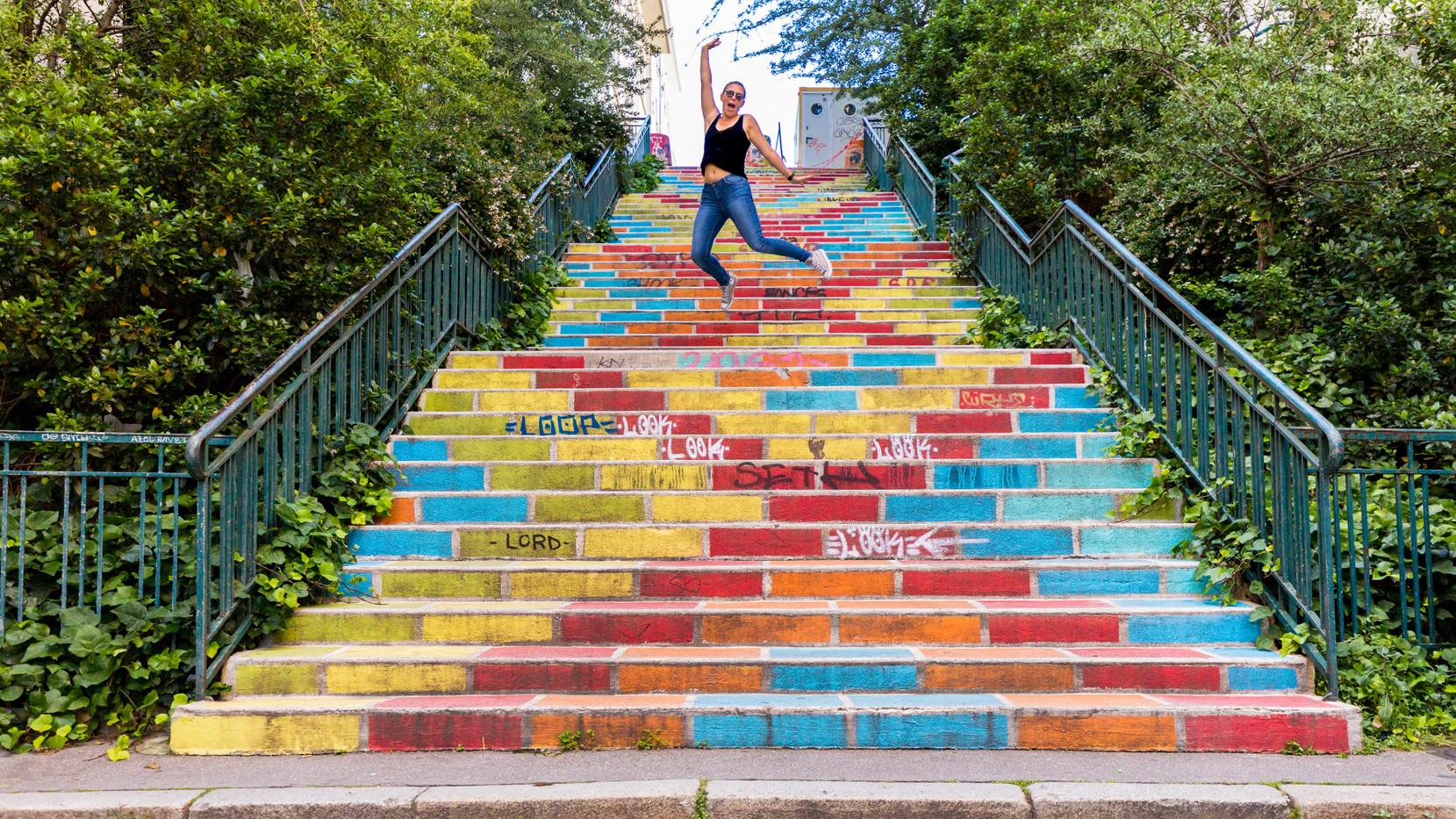 Les éscaliers colorés de la Croix-Rousse