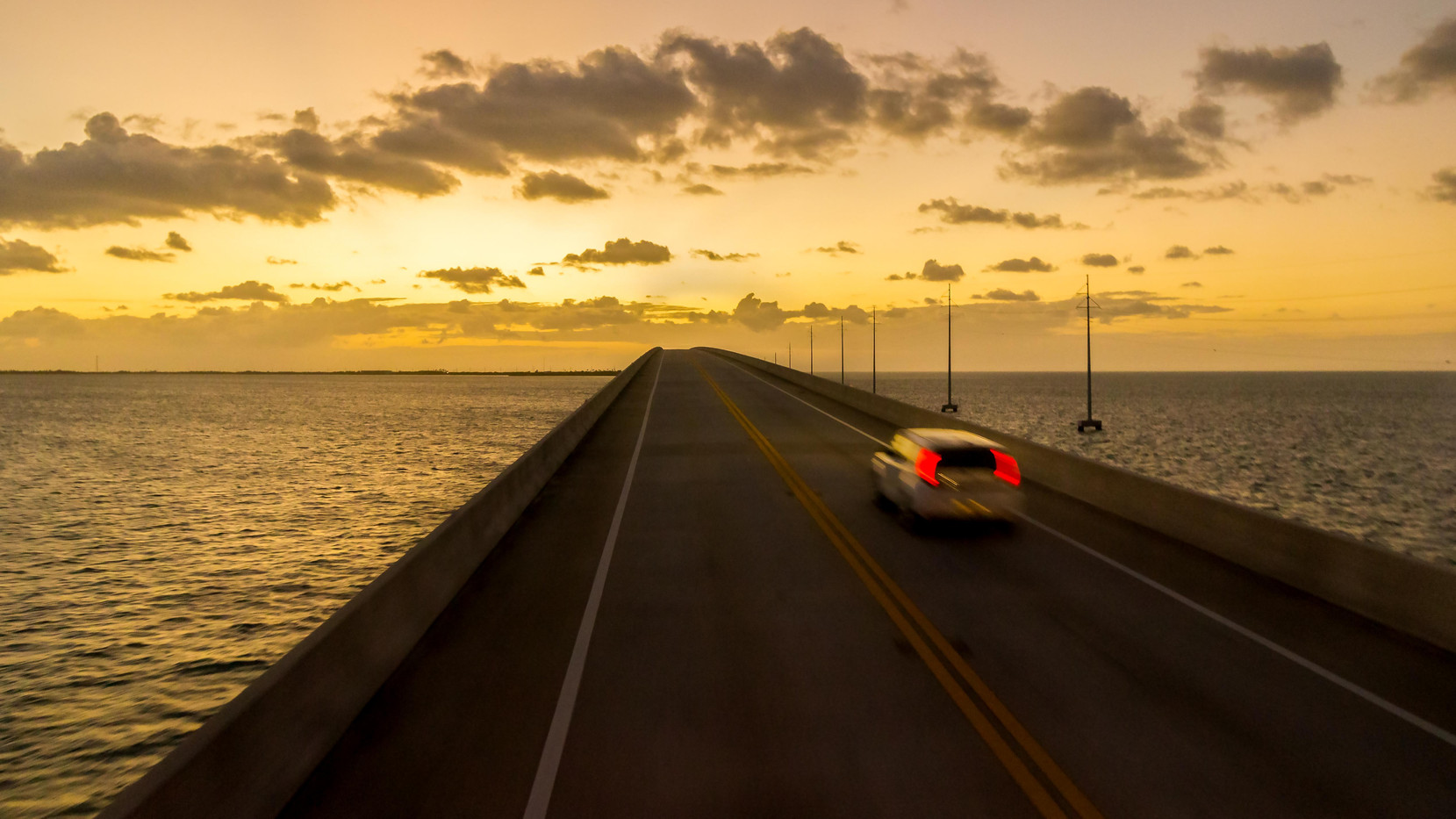 Sunset at Seven Mile Bridge