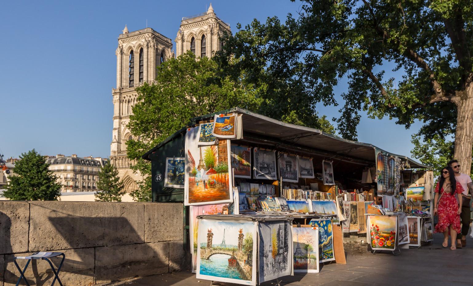 Peintres sur les berges de Seine