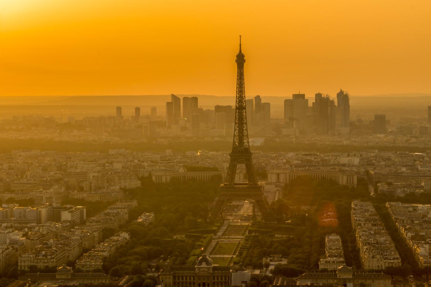 Coucher de soleil su Paris