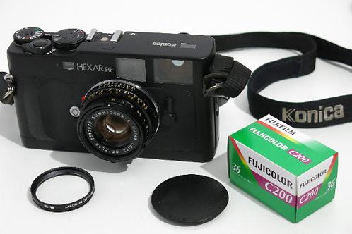Konica HEXAR RF with SUMMICRON C 40mm f 2.0 Leica M Mount Range Finder Camera