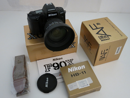 In Box Nikon F90X SLR Film Camera with AF24-120mm 1:3.5-5.6D AF Nikkor Lens