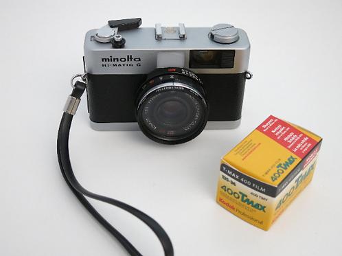 minolta HI-MATIC G 35mm Compact film camera ROKKOR 38mm 2.8 working meter