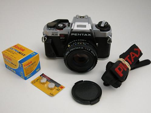 Mint PENTAX PROGRAM Plus S.L.R film camera with SMC 50mm f:1.7 Lens + New light