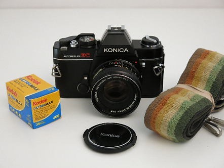 Konica Autoreflex TC SLR film camera with 50mm f:1.7 lens