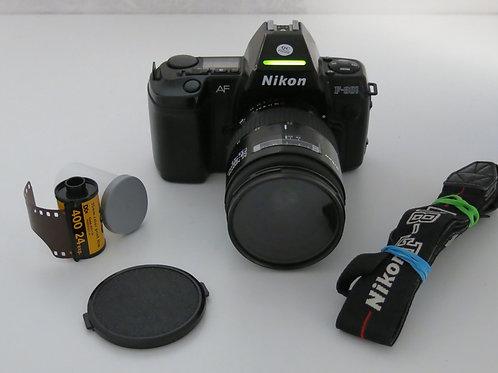 Nikon F-801 AF 35mm film camera with Nikkor 28-85 1:3.5-4.5