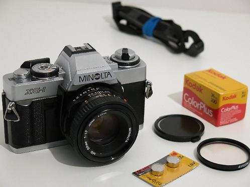Minolta XG-1  SLR film camera with 50mm 1.7 lens + New Light Seals