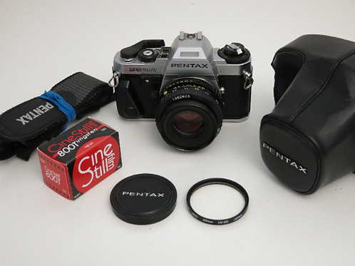 Mint Pentax Super Program SLR film Camera with 50mm f:1.7 lens