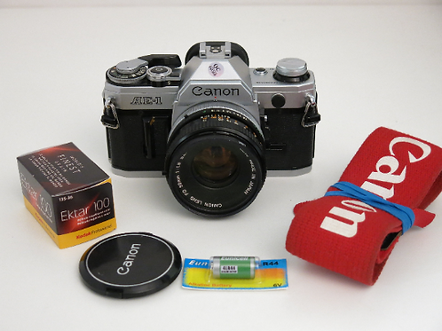 Canon AE-1 in Fully working condition with 50mm 1.8 S.C. lens + new light seals