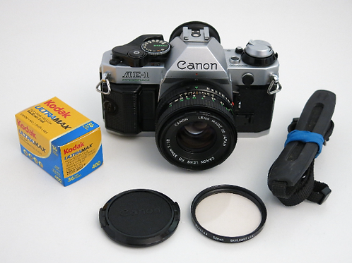 Canon AE-1 Program SLR Film Camera working condition with 50mm 1.8 lens