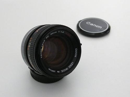 Canon FD 50mm f/1.4 S.S.C. ssc MF FD Mount