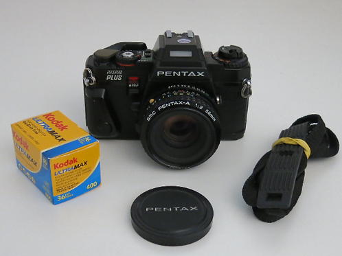 Black PENTAX PROGRAM Plus fully functional with SMC 50mm f:2.0 Lens