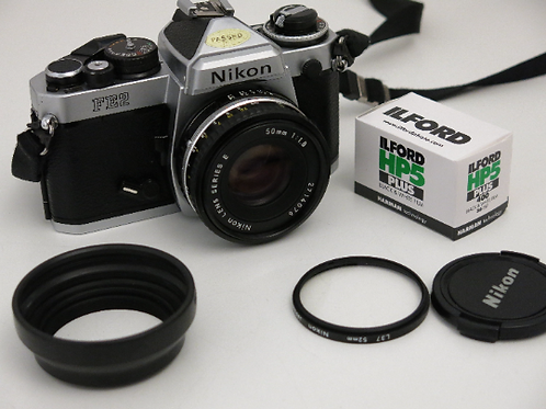 Mint Nikon FE2 35mm SLR film camera Honey Comb Shutter + Nikon 50mm lens