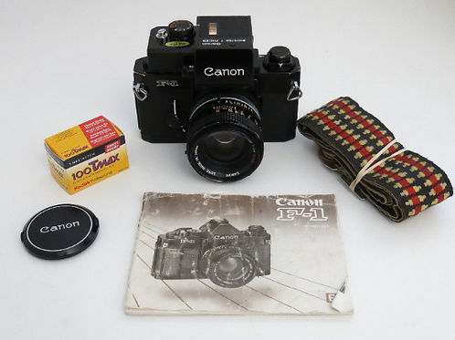 Canon F1 + BOOSTER T Finder & 50mm 1.4 SSC Classic