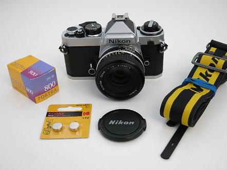 Like new Nikon FE SLR Fully Manual Film Camera + Nikkor 50mm 1.8