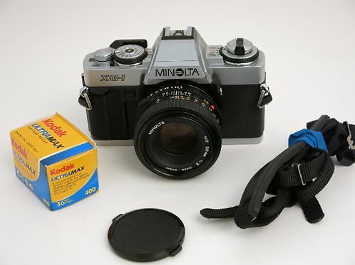 Minolta XG-1 SLR film camera with 50mm 2.0 lens +new light seal