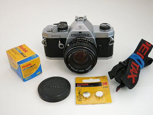 Pentax MX S.L.R film camera with 50mm/2.0 lens+ New light seals