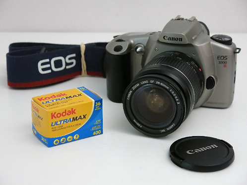 Mint Canon EOS 3000 + Canon EF 28-80mm f3.5-5.6 Zoom lens