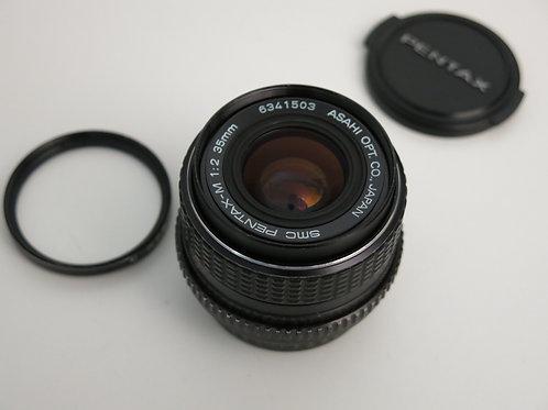 SMC PENTAX-M 35mm f:2 Prime lens full frame FX K Mount Manual