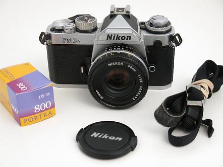 Nikon FM3A SLR Film Camera + 50mm/1.8 Ai-s series lens