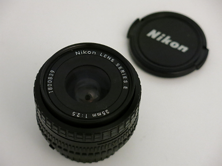 Nikon 35mm 1:2.5 Series E Ai-s manual focus wide lens