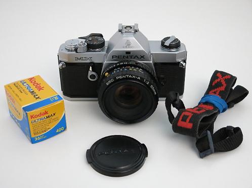 Mint Pentax MX S.L.R film camera with 50mm/2.0 lens+ New light seals