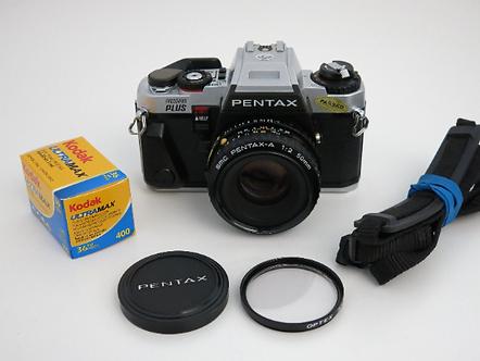 Mint PENTAX PROGRAM Plus S.L.R film camera with SMC 50mm f:2.0 Lens