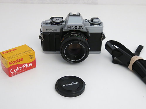 Minolta XG-M 35mm SLR film camera with 50mm 1.7 lens