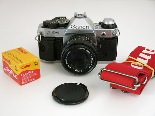Canon AE-1 Program in a nice working condition with 50/1.8 lens + new light seal