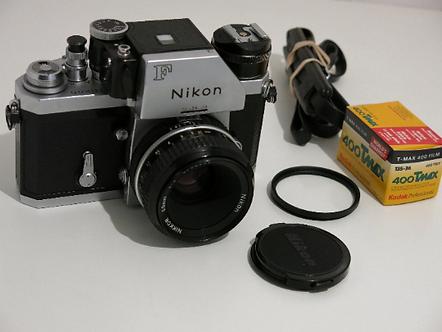 Mint Nikon F with FTN Photomic finder working Meter + Nikkor 50mm Lens