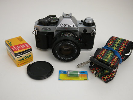 Canon AE-1 Program SLR Film Camera working condition with 50mm 1.8 lens + new li
