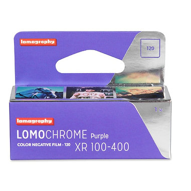 LOMOGRAPHY LOMOCHROME purple XR 100-400 color 120 film