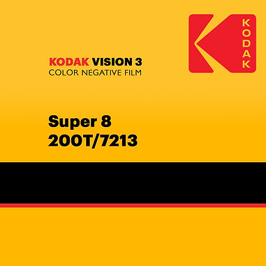 Kodak VISION3 Color Negative Film Super 8 - 200T/7213