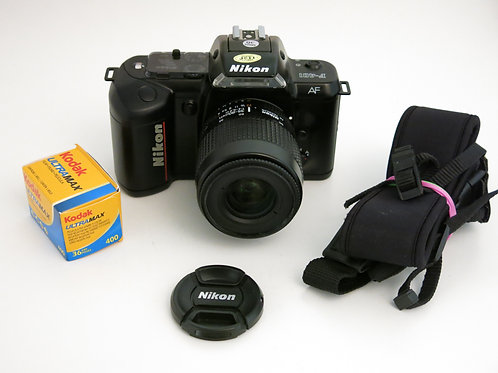 Nikon F-401 AF 35mm film camera with Nikkor 35-80mm 1:4-5.6