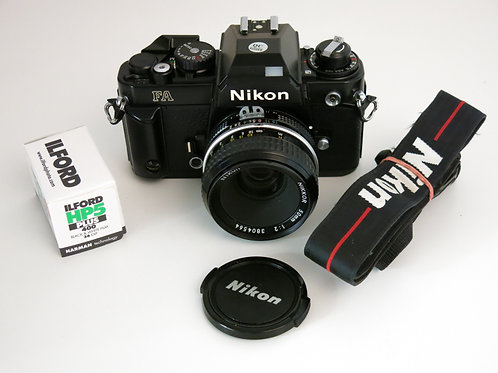 Nikon FA wiith Nikkor 50mm 1:2 lens + new light seals