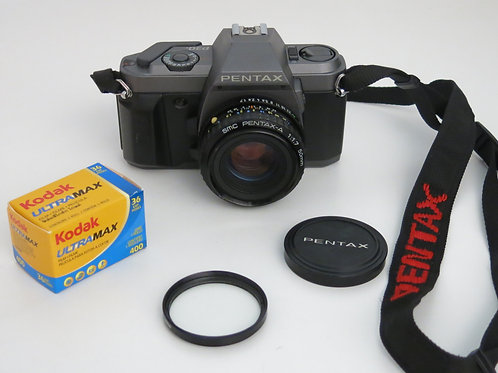 Pentax P30T SLR 35mm film camera with 50mm 1:1.7 Pentax-A Lens