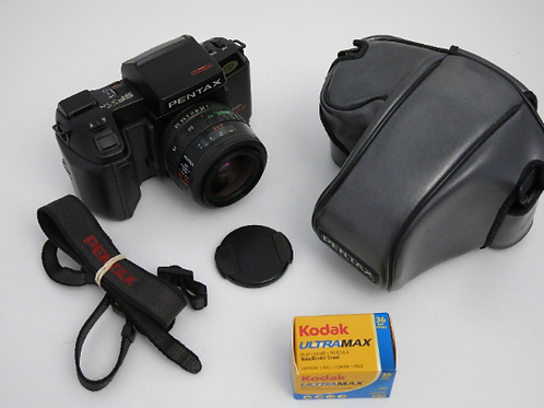 Mint Pentax SFX N SLR film camera with Pentax 35-70mm Macro lens