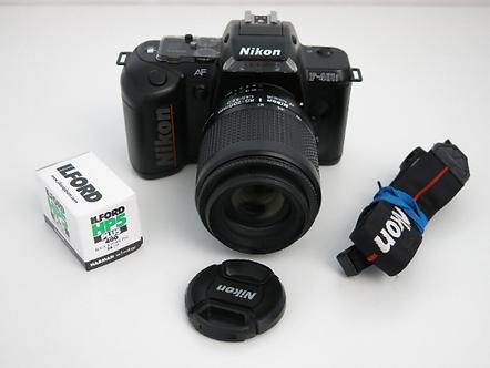 Nikon F-401 S AF 35mm film camera with Nikkor 80-200mm 4-5.6 D