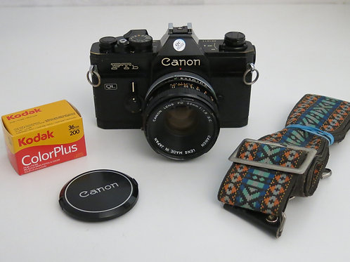 Black Canon FTb with 50mm/1.8 + new light seal