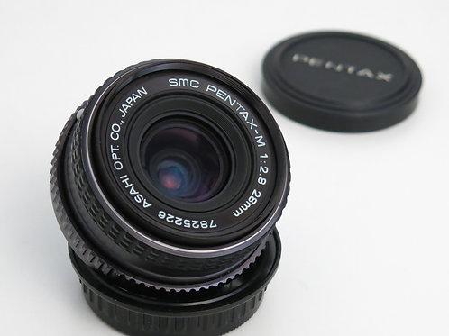 Pentax smc PENTAX-M 28mm F 2.8 FX Prime K mount Lens Full Frame
